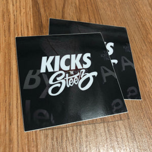 KNS Laminated Decal Sticker (2-Pack) - KICKS 'N' STEEZ