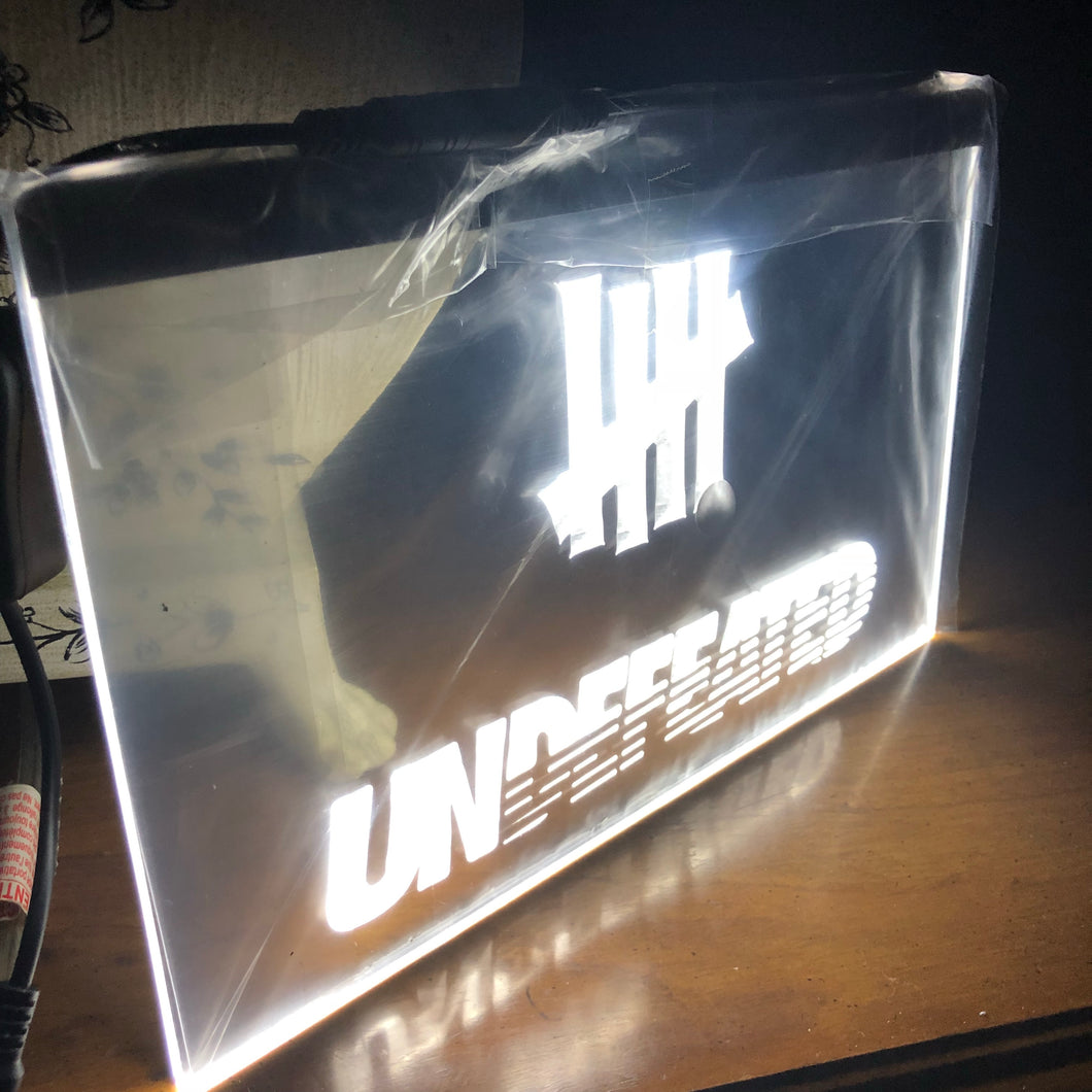 Custom Neon Sign - Undefeated - KICKS 'N' STEEZ