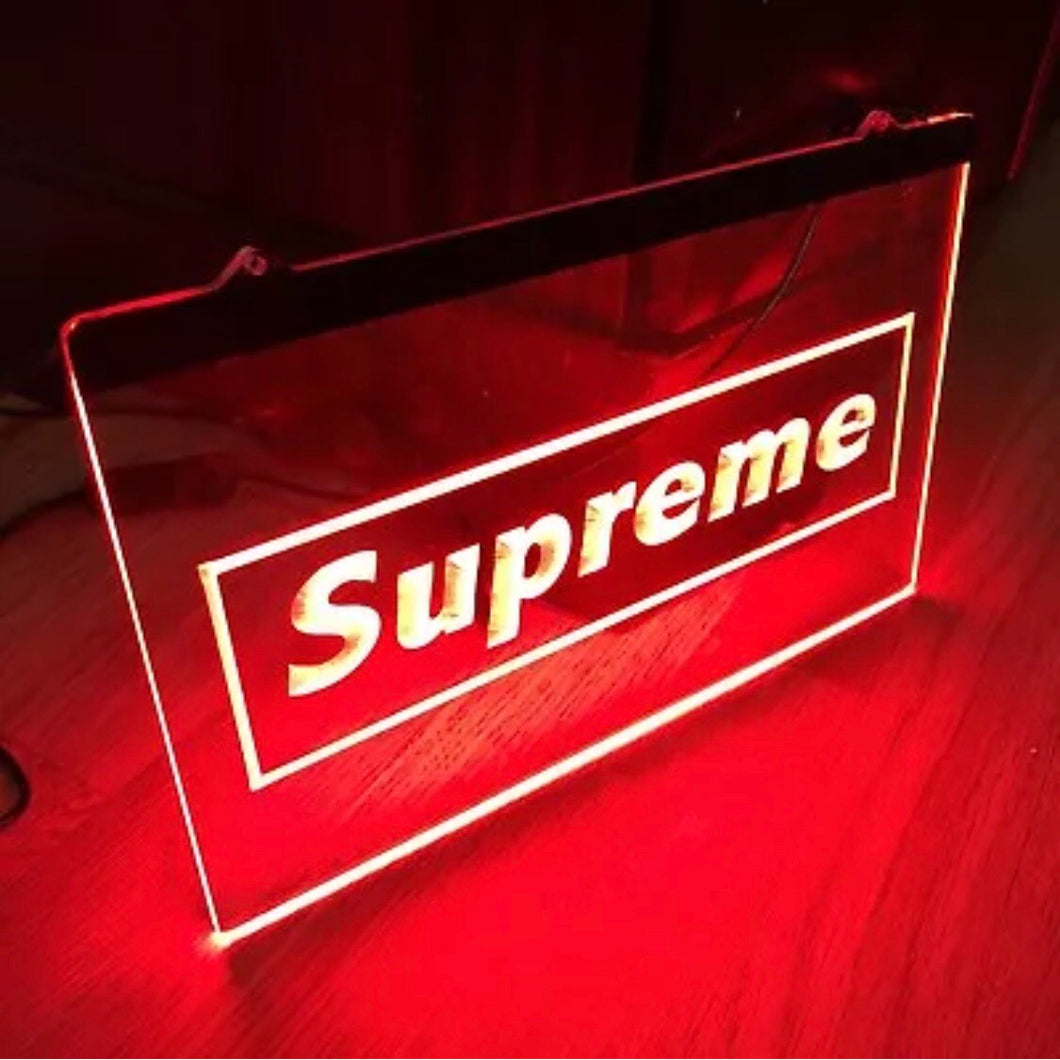 MADE TO ORDER: Supreme - Custom Neon Sign - KICKS 'N' STEEZ