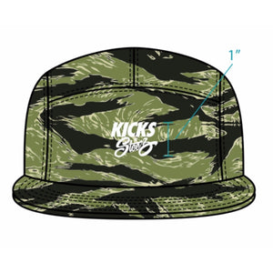 Kicks 'N' Steez (KNS) - 5 Panel Camp Cap - Tiger Camo