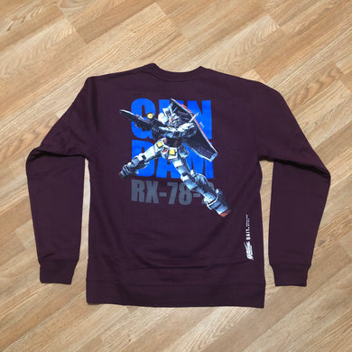 Bait x Gundam - RX 78 2 Crewneck Sweater - Maroon - Medium - KICKS 'N' STEEZ