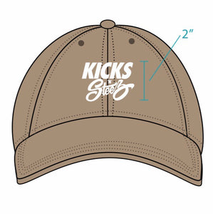 Kicks 'N' Steez (KNS) - Classic Logo Embroidery Dad Hat - Kahki