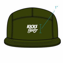 Kicks 'N' Steez (KNS) - 5 Panel Camp Cap - Olive