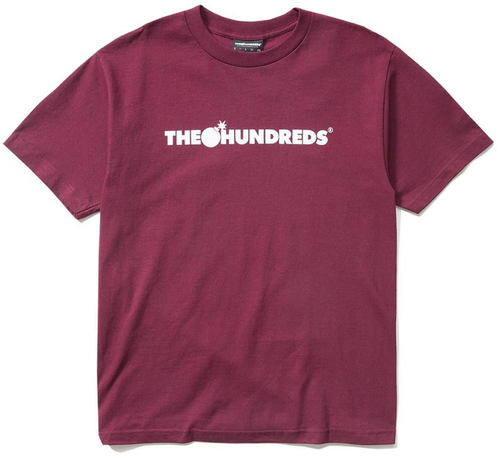The Hundreds - Forever Bar Tee - Burgundy - Medium - KICKS 'N' STEEZ