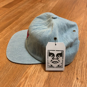 Obey - 6 Panel Hat - Light Denim - OS - KICKS 'N' STEEZ
