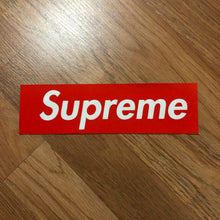 Supreme - Felt Box Logo Sticker (SS16) - Red - KICKS 'N' STEEZ