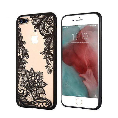 KISSCASE iPhone X Luxury Case With Lace Flowers Design