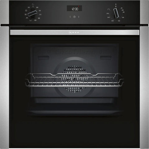 Neff B3ACE4HN0B SLIDE&HIDE® Built In Electric Single Oven - Stainless Steel - A Rated - Appliance Village