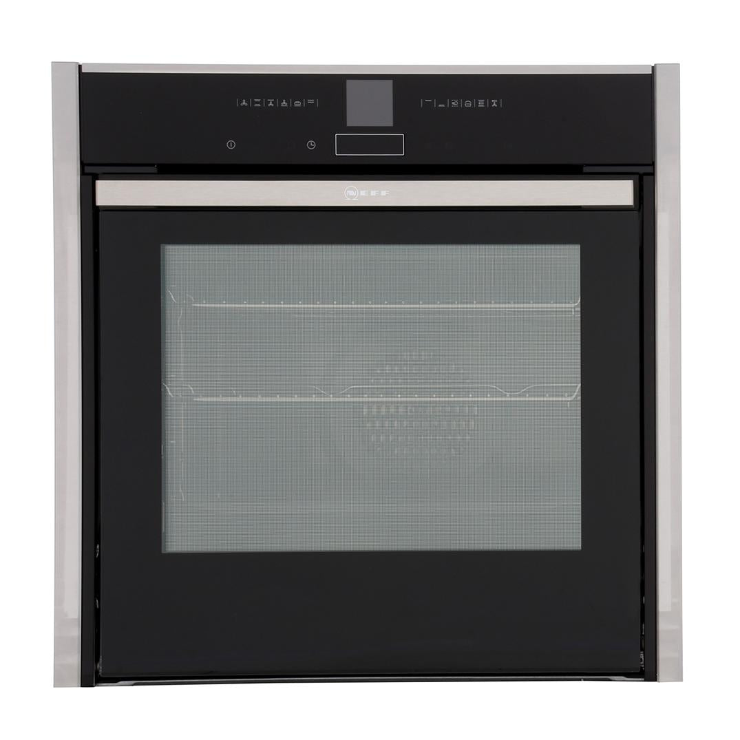 Neff B57CR23N0B Pyrolytic Slide & Hide Built In Electric Single Oven - Appliance Village