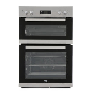 Beko CDF22309X Built In Electric Double Oven - Stainless Steel - A/A Rated - Appliance Village