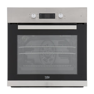 Beko CIF81X Built In Electric Programmable Single Oven - Stainless Steel - A Rated - Appliance Village