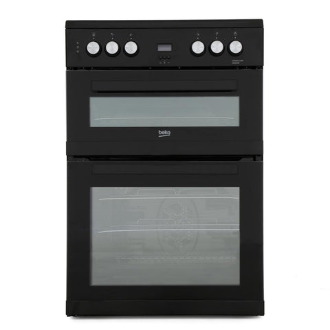 Beko EDC633K 60cm Double Oven Electric Cooker with Ceramic Hob - Appliance Village