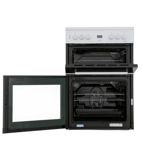 Beko EDC633W 60cm Double Oven Electric Cooker with Ceramic Hob - Appliance Village