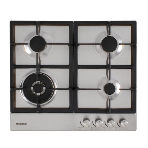 Blomberg GEN73415 60cm Gas Hob with High Power Wok Burner - Stainless Steel - Appliance Village