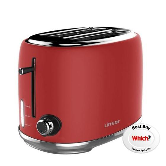 Linsar KY865RED 2 Slice Toaster - RED - Appliance Village