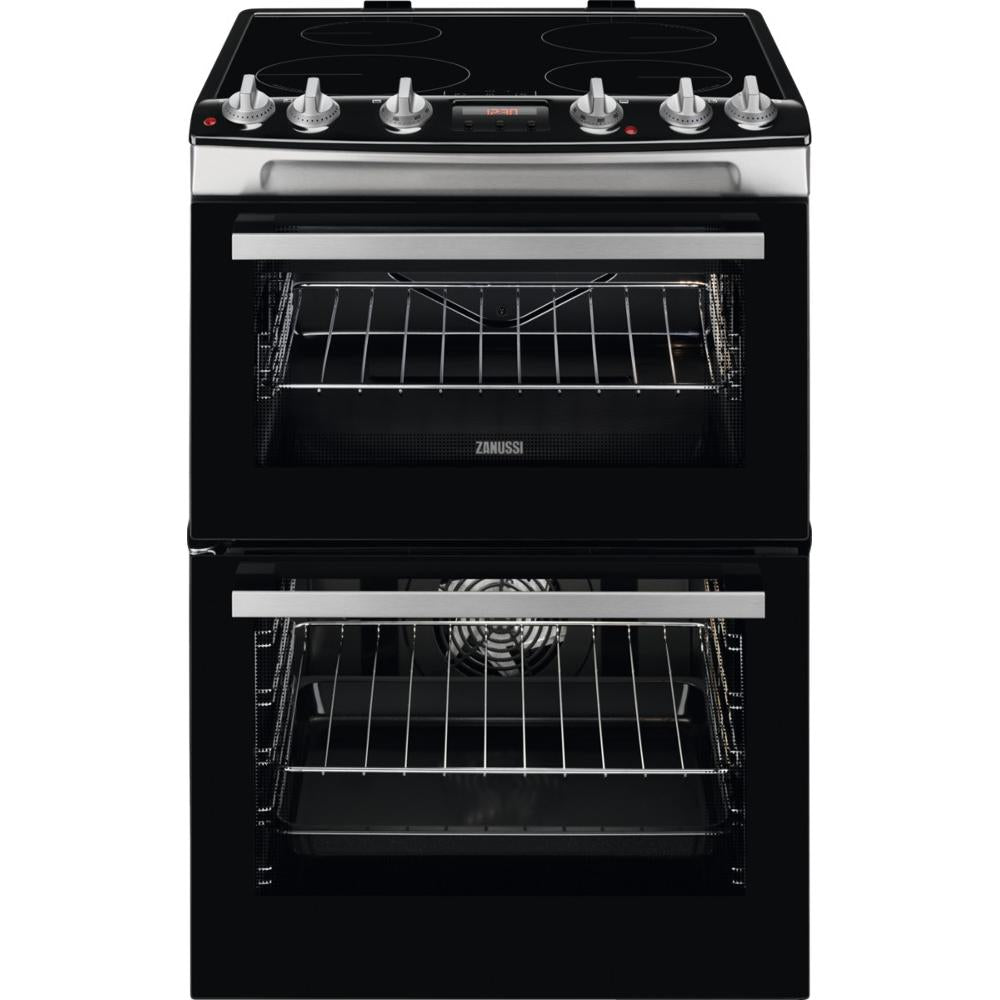 Zanussi ZCI66278XA 60cm Electric Double Oven Cooker with Induction Hob - Appliance Village