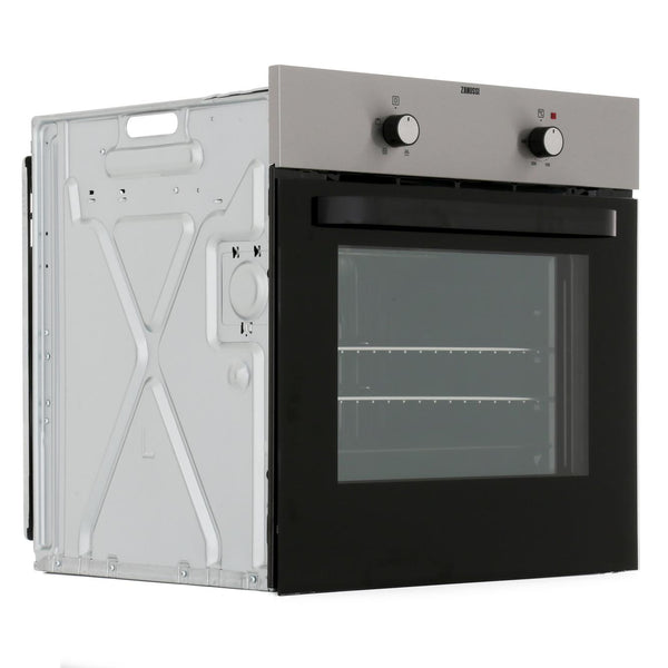 Zanussi ZZB30401XK Built In Electric Single Oven - Stainless Steel - A Rated - Appliance Village