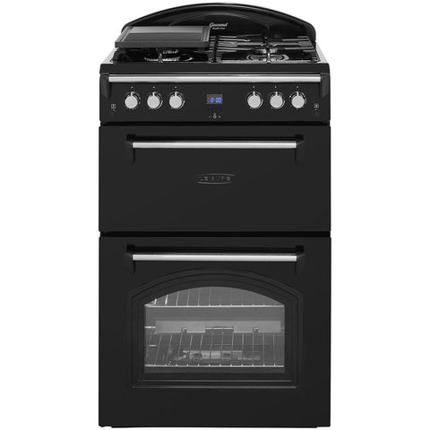 Leisure Gourmet GRB6GVK 60cm Gas Cooker with Full Width Gas Grill - Black - A+/A Rated - Appliance Village