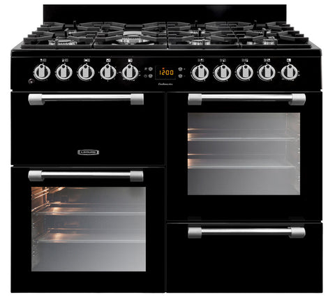 LEISURE CK100G232 Cookmaster 100cm Gas Range Cooker - Black - Appliance Village