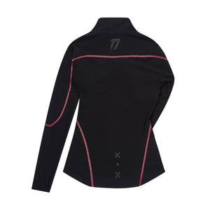 Women's fitted mid layer jacket back view