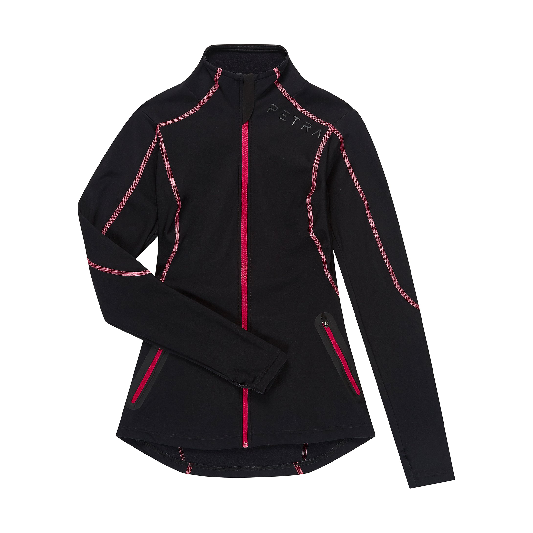Women's fitted mid layer jacket front view