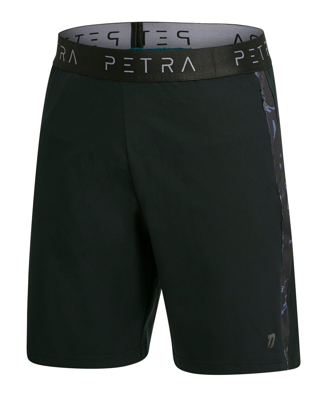 Technical workout shorts front view