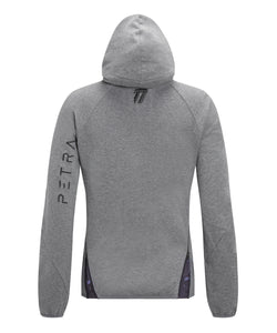 Fitted cotton hoodie back view