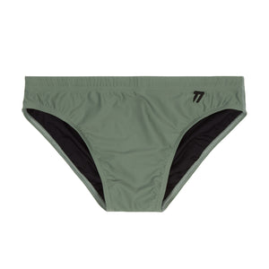 MALAGA - Men's technical swimming brief army green