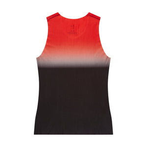 Men's fitted technical tank top red back view
