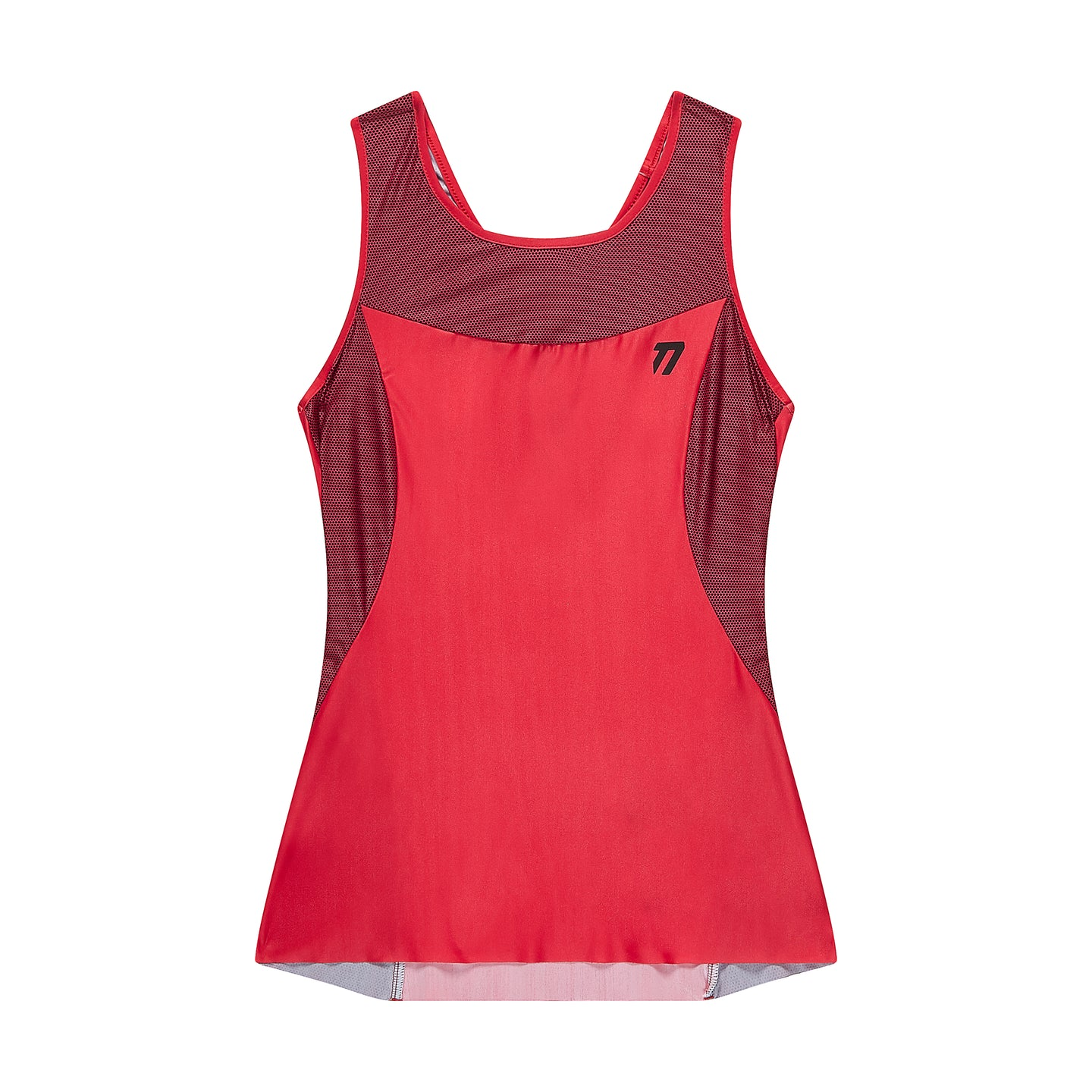 Women's technical tank top front view