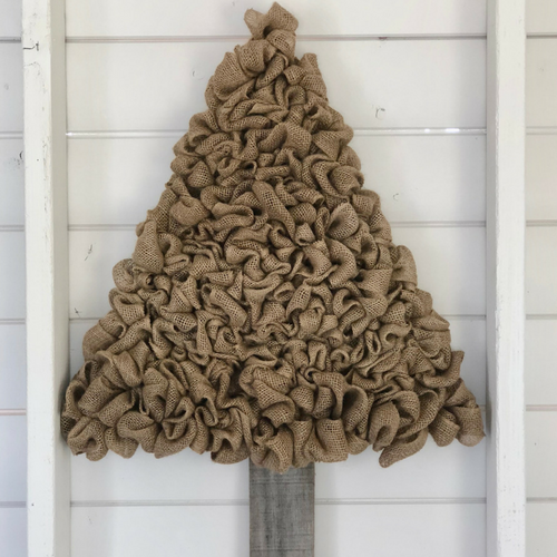 Burlap Tree Decor - Year Round Decoration!