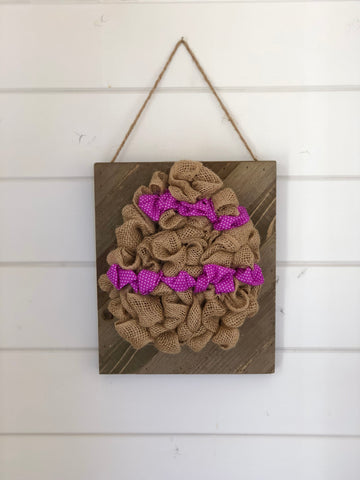 burlap easter egg project