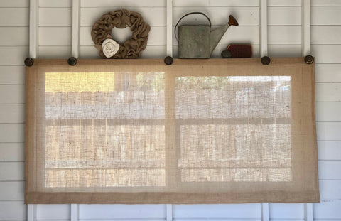 Easy Burlap Window Shades