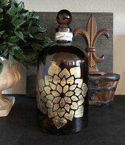 Amber Succulent Apothecary Bottle