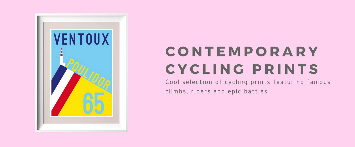 contemporary cycling prints