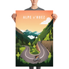 Alpe d'Huez Cycling Prints