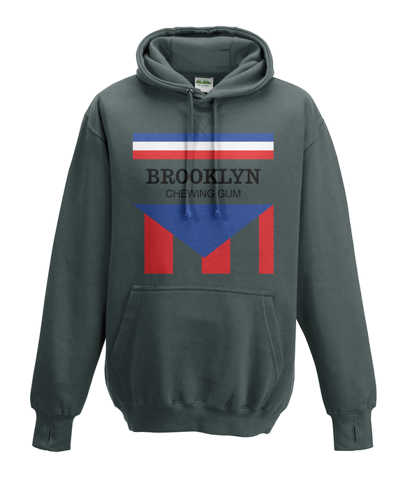 brooklyn chewing gum kids hoodie charcoal