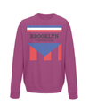 brooklyn chewing gum kids sweatshirt burgundy