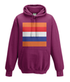 dutch cycling kids hoodie burgundy