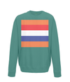 dutch cycling kids sweatshirt jade