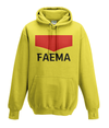 faema kids cycling hoodie yellow