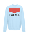 faema kids cycling sweatshirt light blue