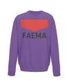 faema kids cycling jumper purple