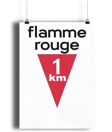 Flamme Rouge cycling poster