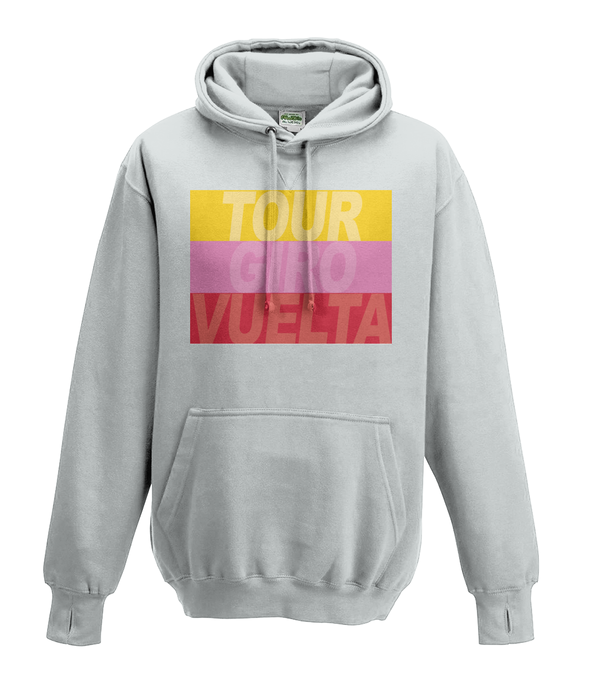 cycling grand tours kids hoodie grey