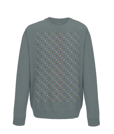 grand tours dots sweatshirt charcoal