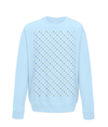 grand tours dots sweatshirt light blue