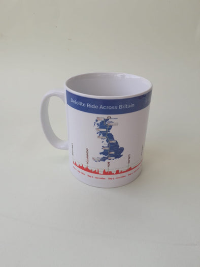Ride Across Britain Route Profile Mug