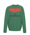 le cannibale kids cycling sweatshirt green
