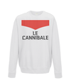 le cannibale kids cycling sweatshirt white
